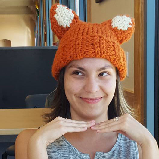 Candice in a Fox Hat