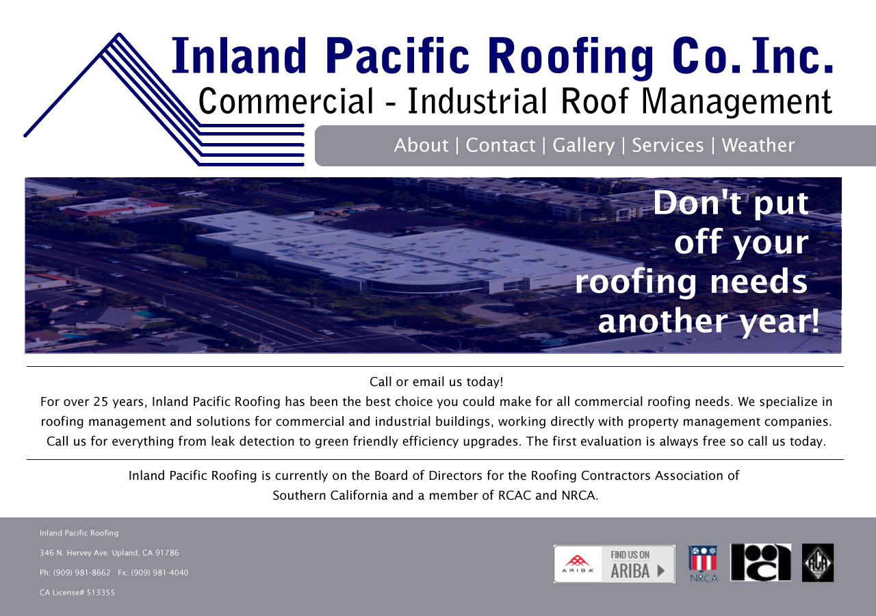 Inland Roofing Mockup