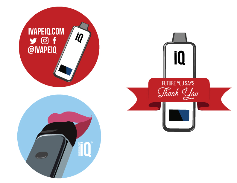 Candice Allen Art - I Vape iQ - Sticker Designs 01