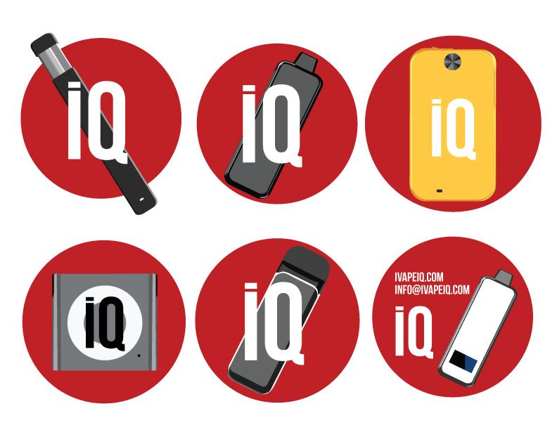Candice Allen Art - I Vape iQ - Sticker Designs 02