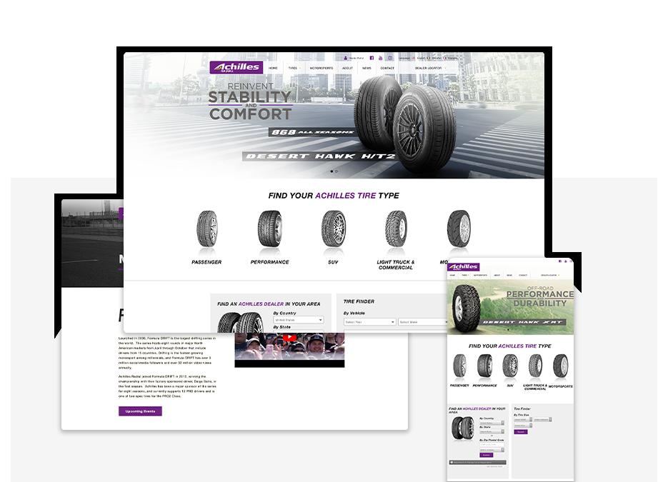 Achilles Tire USA portfolio top image