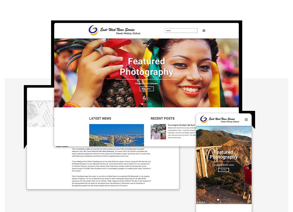 East West News Services portfolio top image
