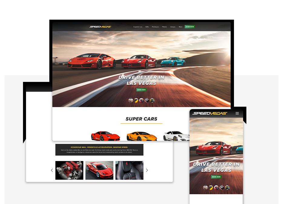 Speedvegas portfolio top image