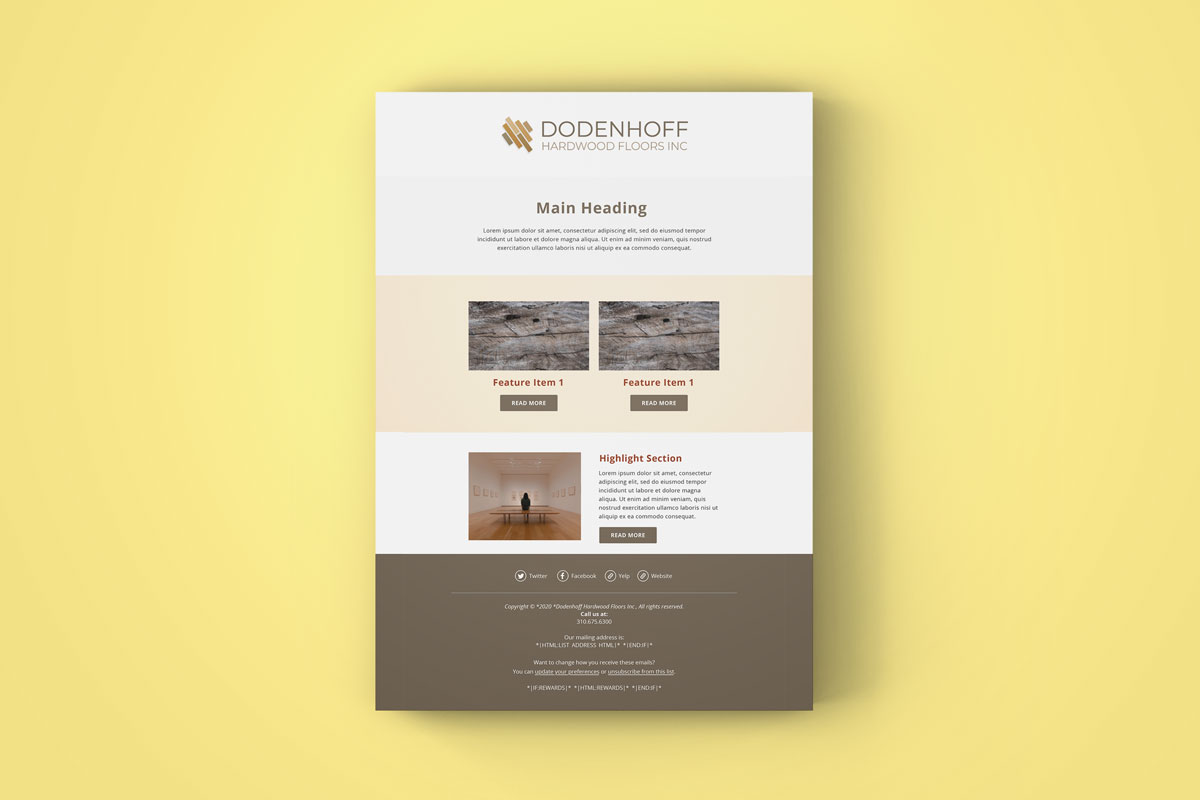 DHF Mailchimp Email Template