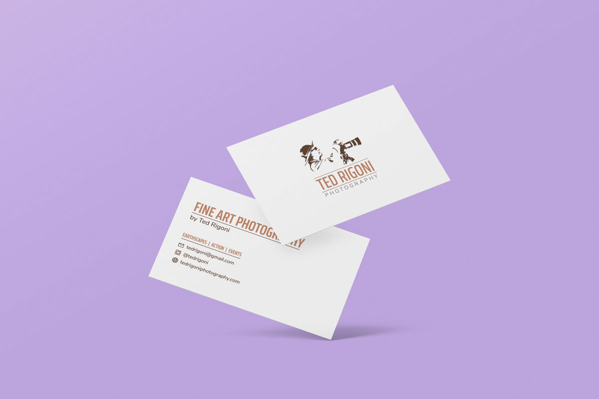 Ted Rigoni Photography Business Cards